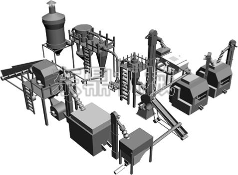 木粉生产线设备结构组成